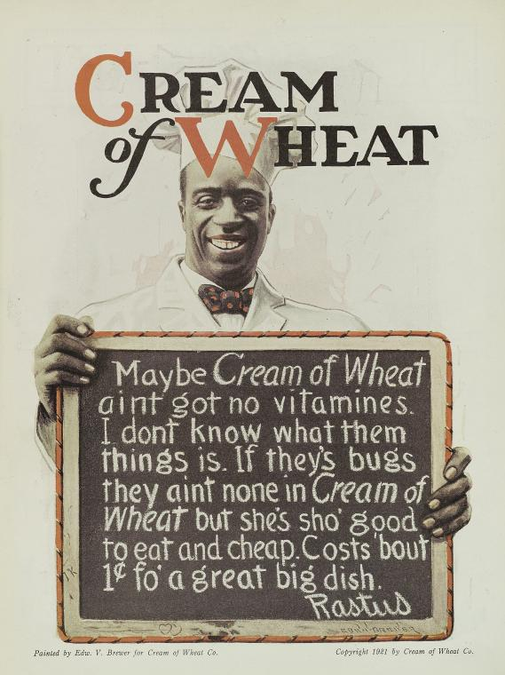 cream of wheat advertisement, december 1921, nypl, needlcraft magazine, record ID 1918735