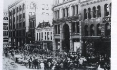 smaller version, photo of newspaper row, minneapolis journal, from hclib, published in downtown book