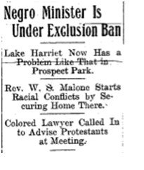 edited version, newspaper clipping for dereks' linden hills post