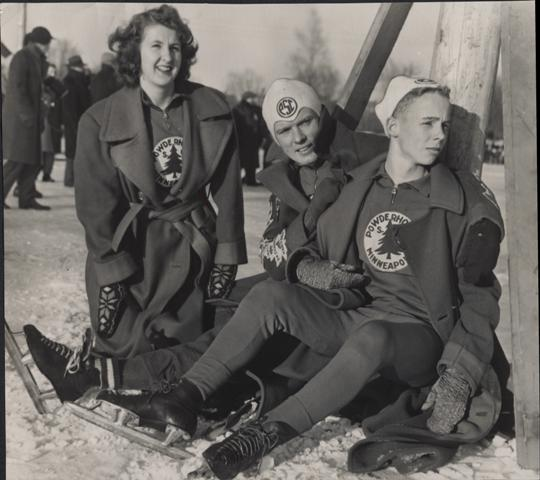 Members of the Powderhorn Skating Club, January, 1947.