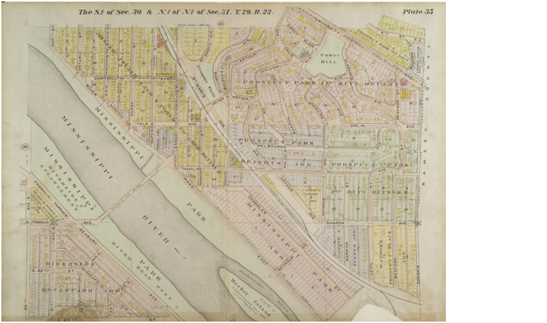 map of prospect park, 1914, real estate atlas, for derek's post