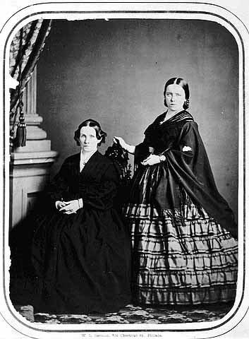 two women, MHS, 1860