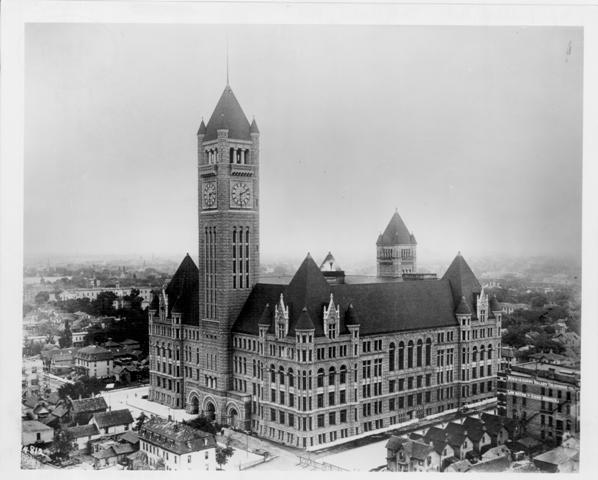 M0146 minneapolis city hall soon after completion hclib photo