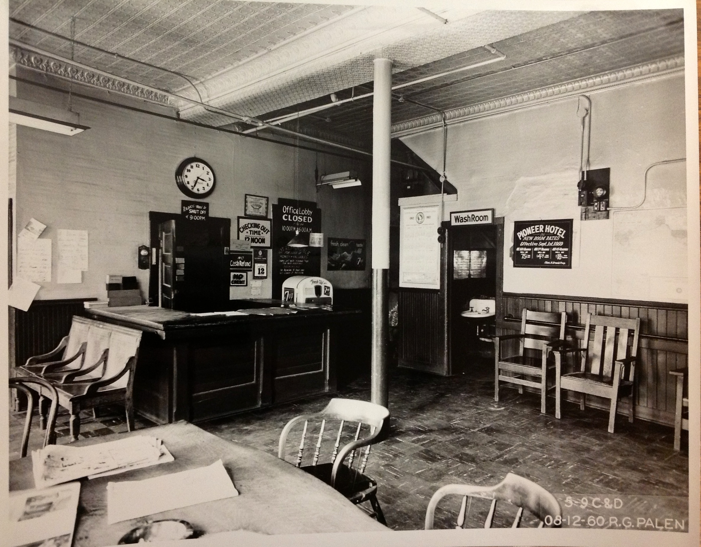 lobby of the pioneer hotel, Gateway district, CPED collection