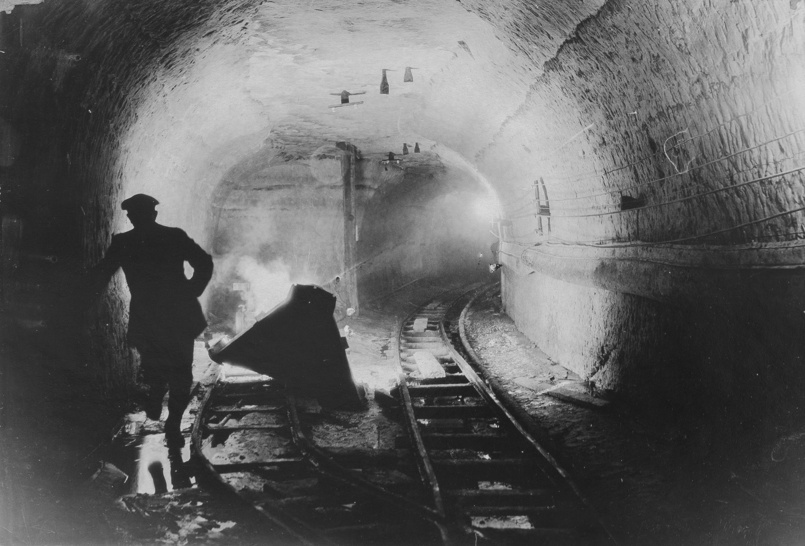 minneapolis underground, public works collection, city hall, glass plate negatives