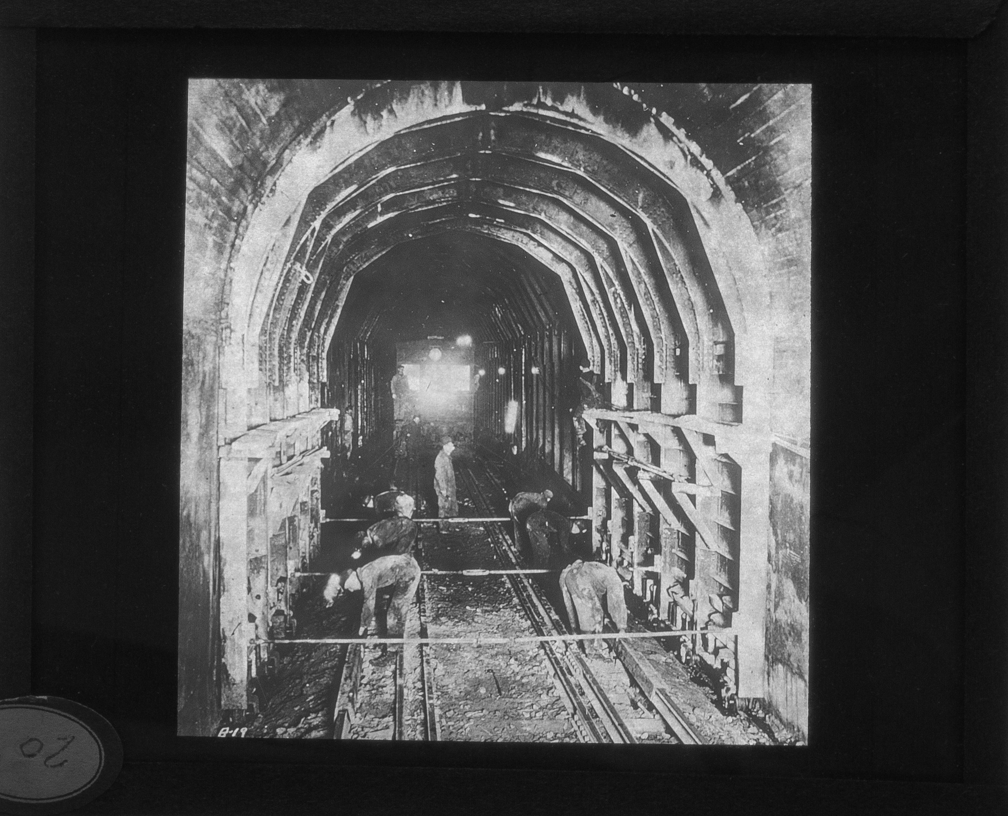minnehaha tunnel, glass plate negative, city archives