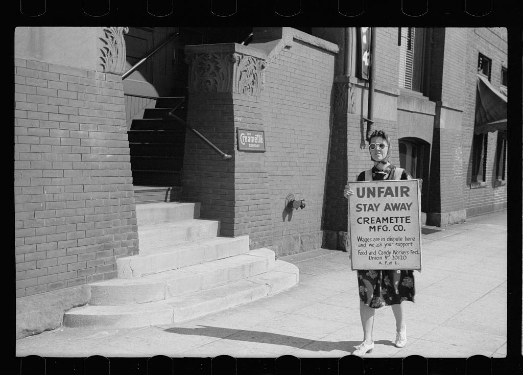strike, creamette company, john vachon, September 1939, LOC
