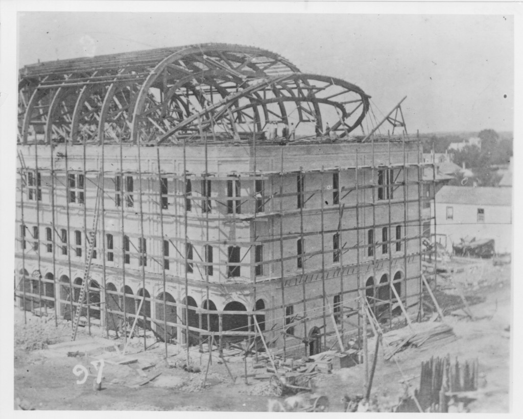 smaller version, construction of the academy of music, hclib