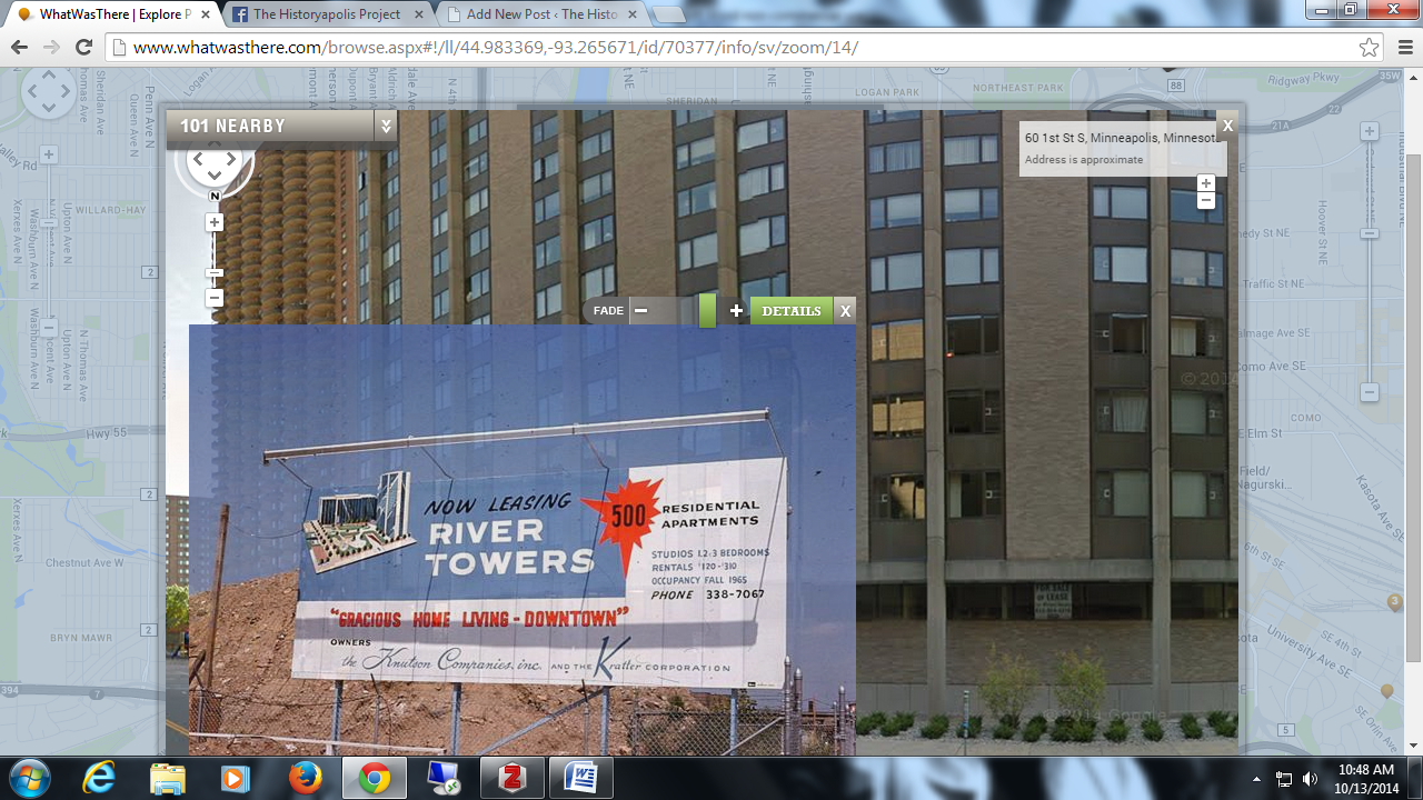static version, what was there, river towers