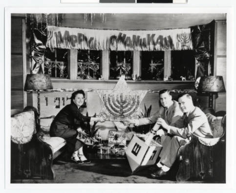 Hanukkah_home_decorating_Minneapolis_Minnesota, upper midwest jewish historical archives