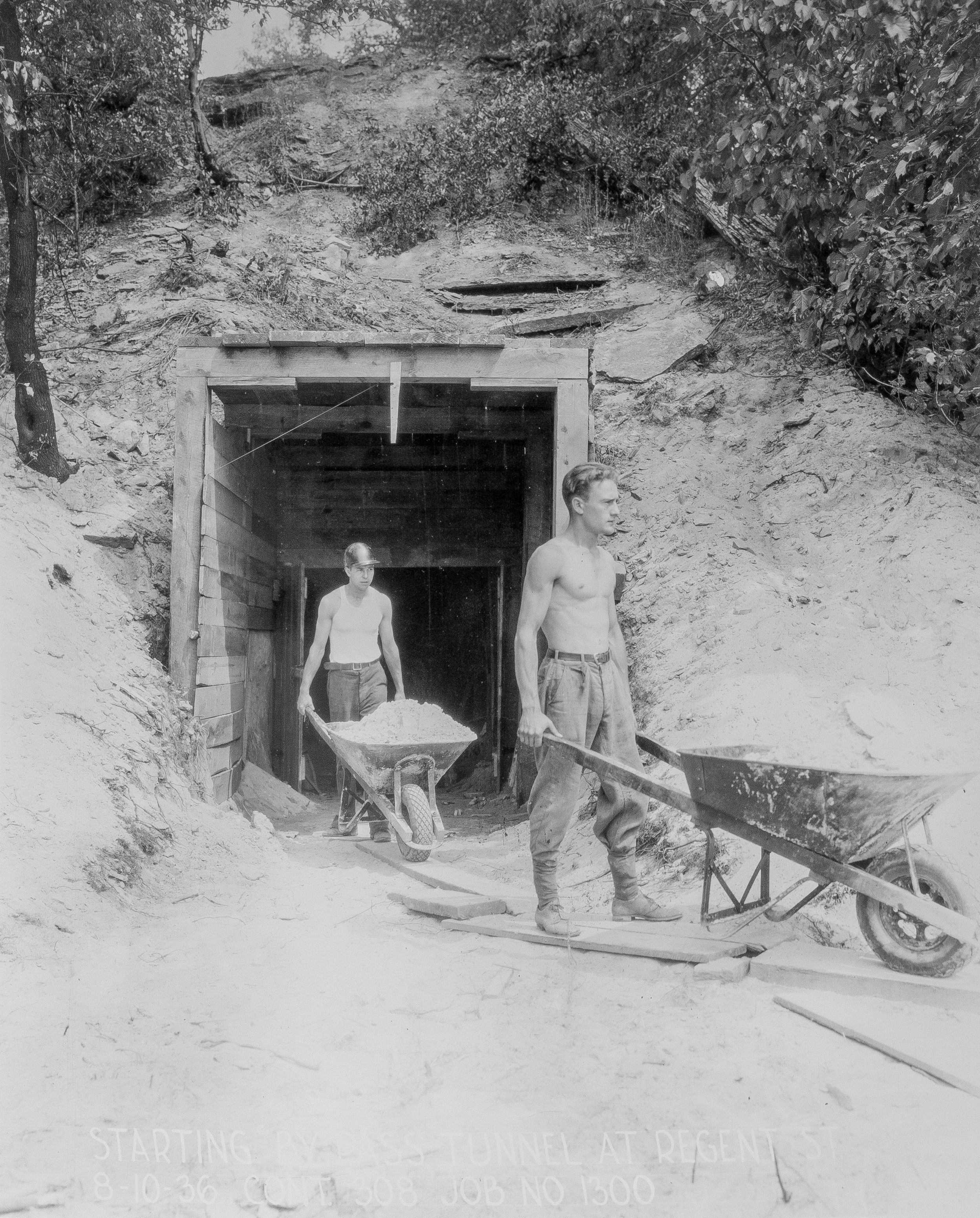 sewer construction, 1930s, minneapolis city archives, public works collection