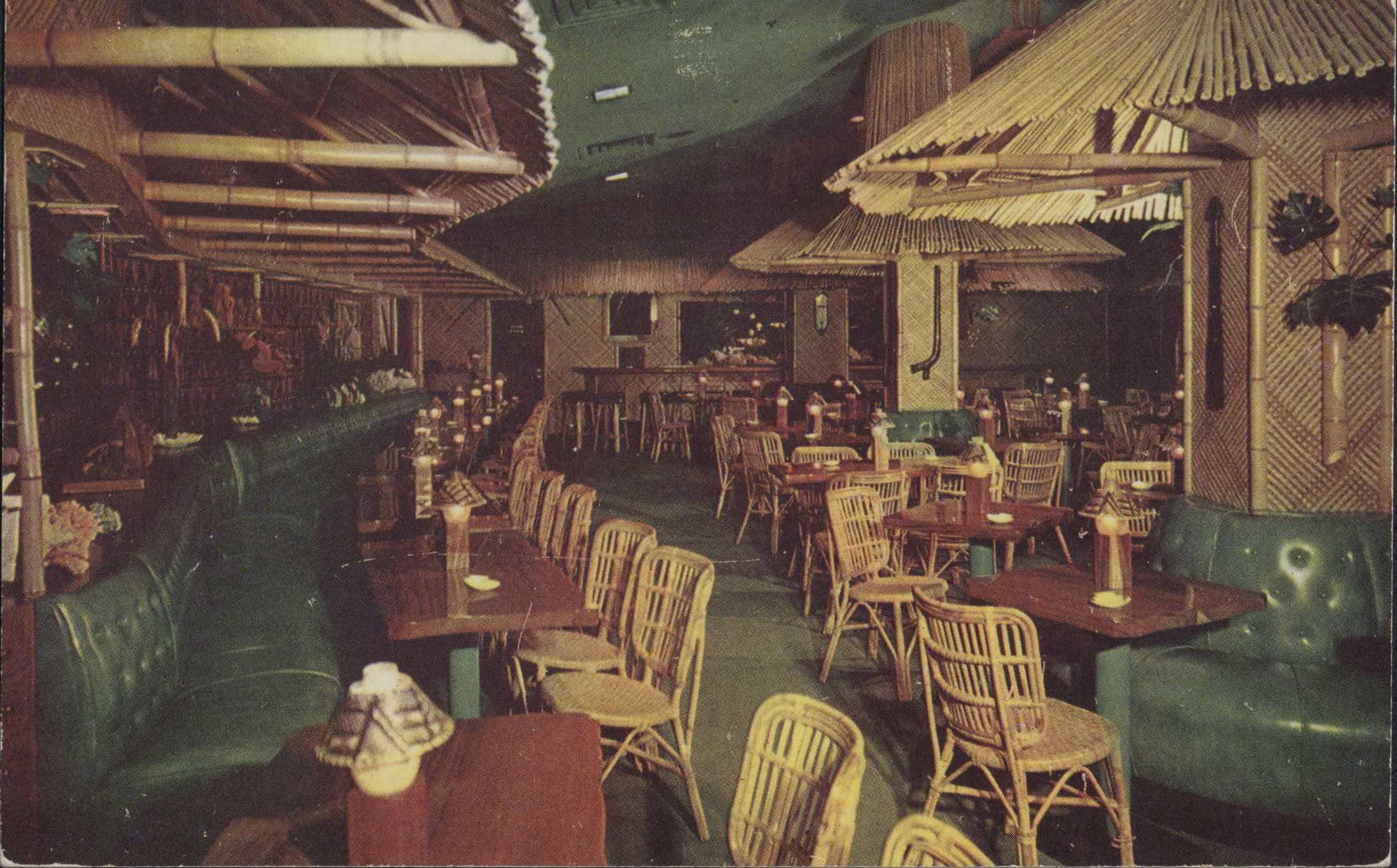 Hotel nicollet waikiki room 1954 postcard side 1 hclib