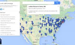 screen grab for lgbtq nps map
