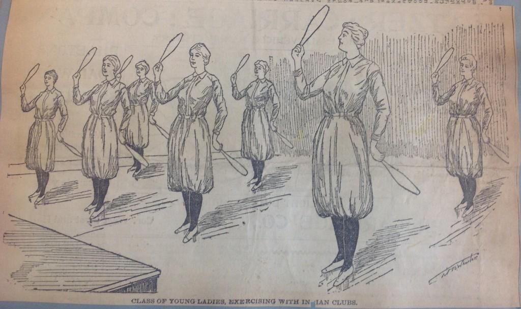 Exercising women, YWCA, U of M collection