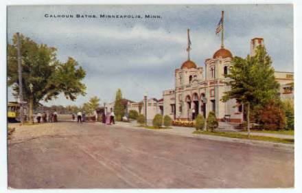 Calhoun_Baths_Minneapolis_Minnesota, postcard, 1913,  Minnesota Streetcar Museum via the Minnesota Digital library