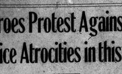 police atrocities headline from 1922